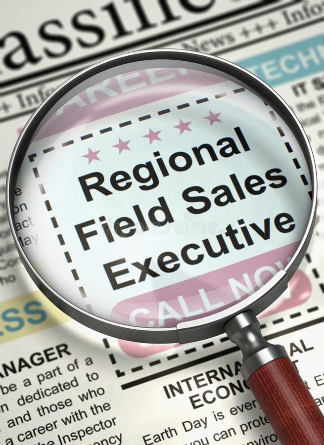 Executivo de vendas regional Job Vacancy do campo 3d ilustração do vetor