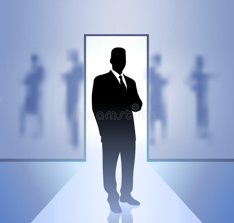 Executivo do homem de negócios no foco ilustração stock