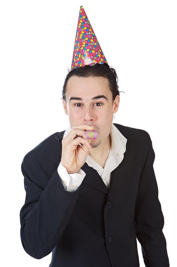 Executivo em uma celebração fotografia de stock royalty free