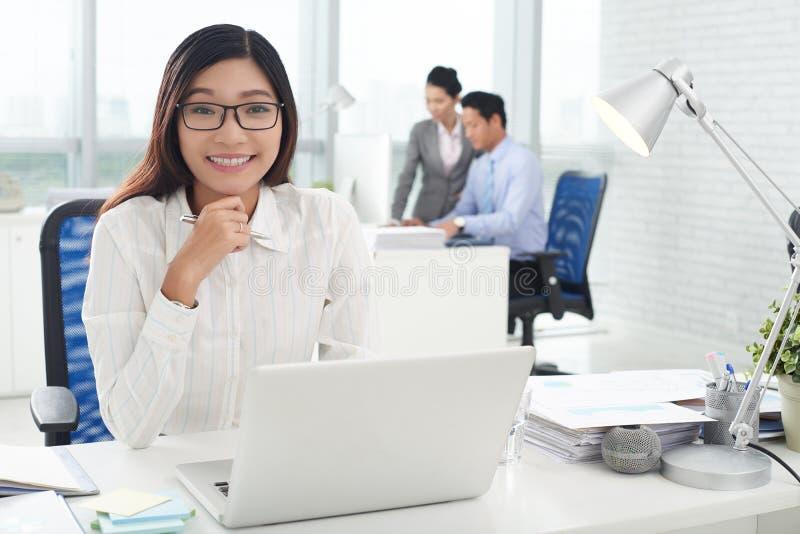 Executivo empresarial asiático imagem de stock