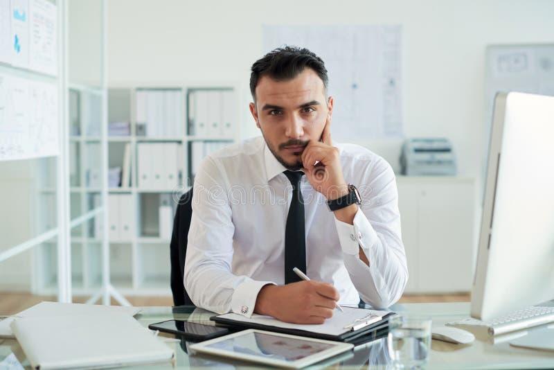 Executivo empresarial de Handome fotos de stock