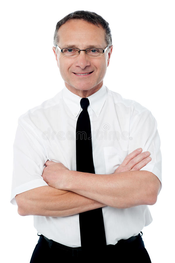 Executivo empresarial maduro seguro fotos de stock