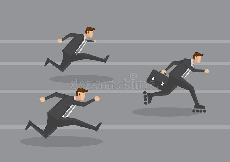 Executivo empresarial na ilustração do vetor do conceito da via rápida ilustração do vetor