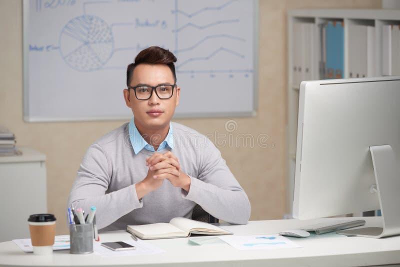 Executivo empresarial novo foto de stock