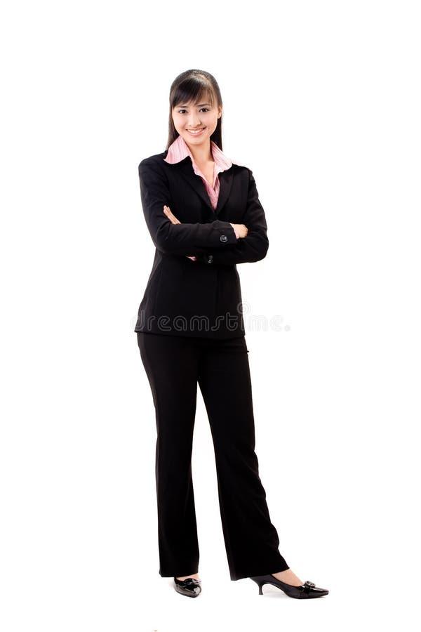 Executivo fêmea de sorriso imagem de stock royalty free