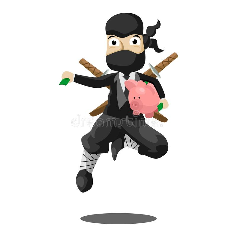 Executivo Ninja Mascot ilustração do vetor