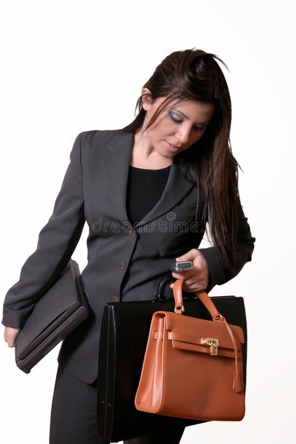 Executivo ocupado fotografia de stock royalty free