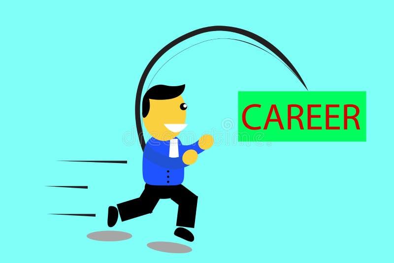 Executivo running - trave sua carreira ilustração stock