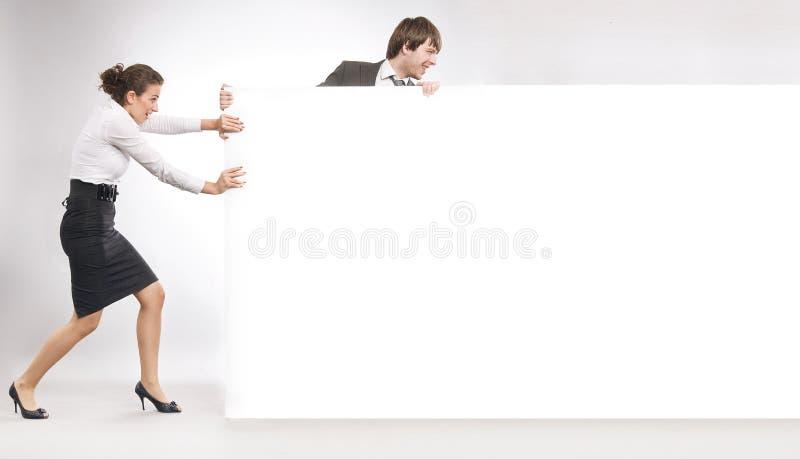 Download Executivos imagem de stock. Imagem de blank, holding - 10067593