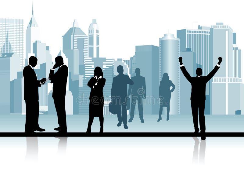 Executivos. ilustração royalty free
