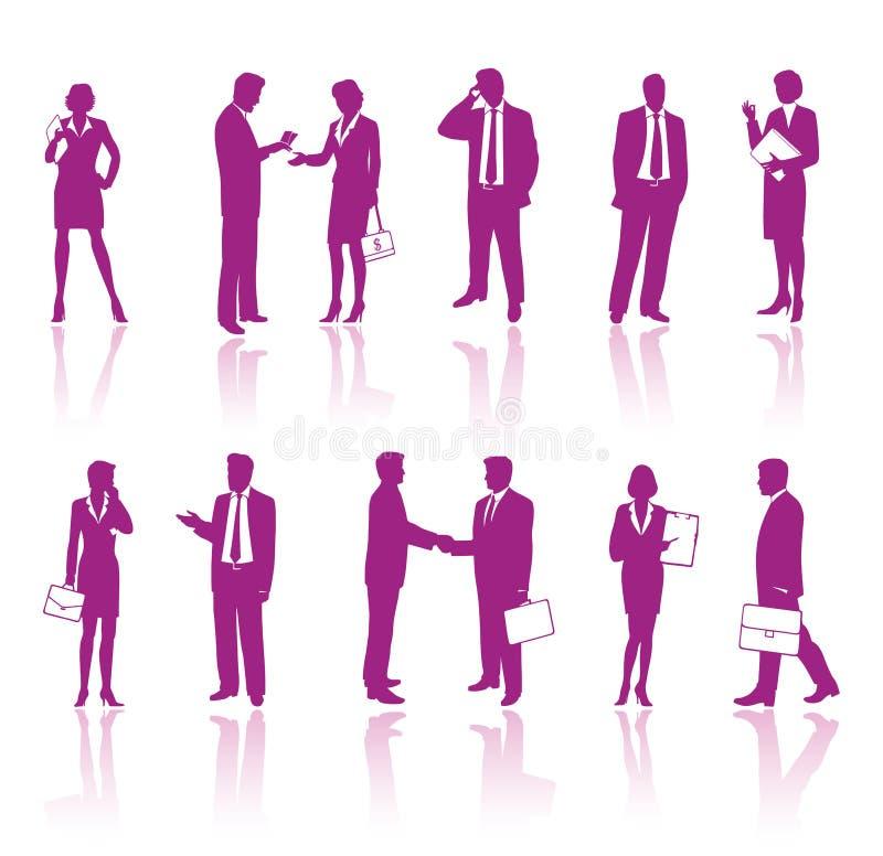 Executivos ilustração royalty free