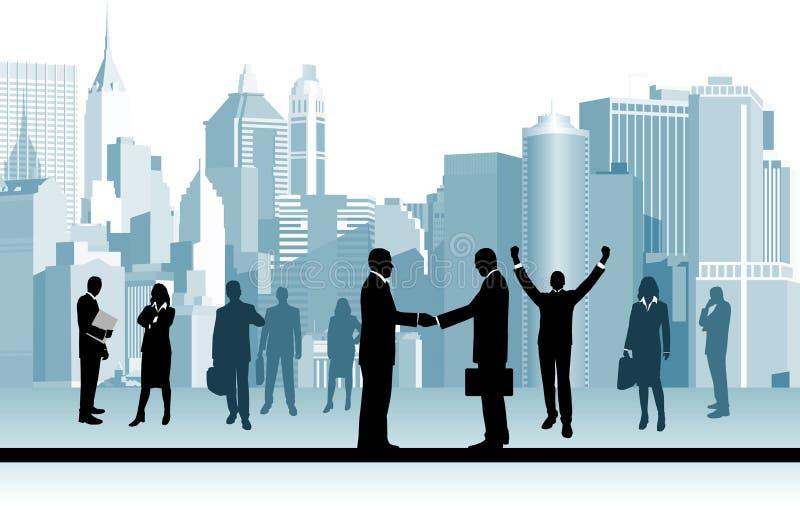 Executivos. ilustração do vetor