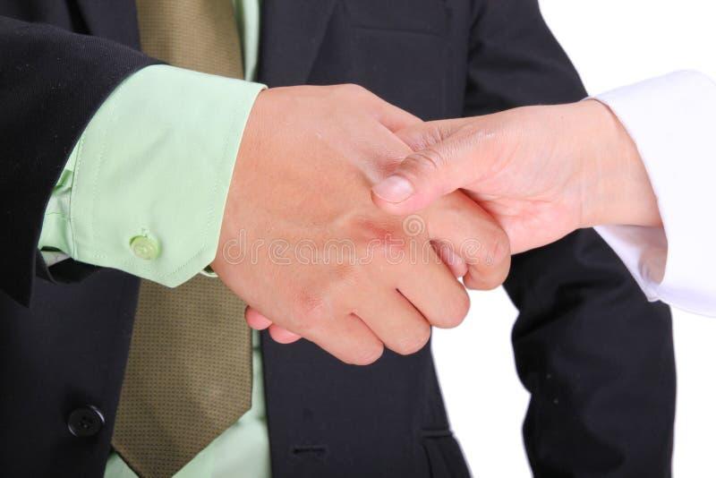 Executivos asiáticos que agitam as mãos fotografia de stock royalty free