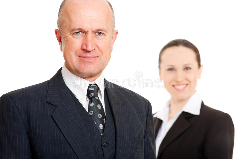 Executivos assegurados do smiley fotografia de stock