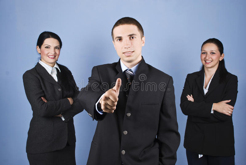 Executivos bem sucedidos da equipe foto de stock
