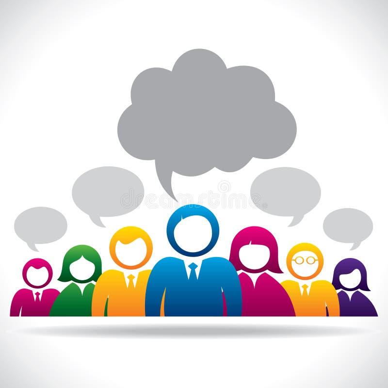 Executivos coloridos do conceito de uma comunicação ilustração royalty free