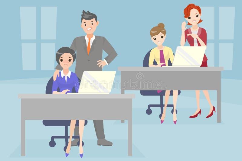 Executivos com problema tiranizando ilustração stock