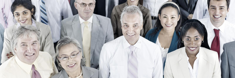 Executivos da audiência Team Gathering Group Concept imagens de stock royalty free