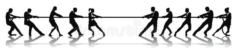 Executivos da competição do conflito ilustração stock