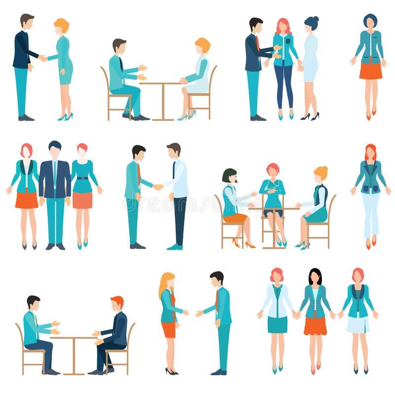 Executivos da parceria ilustração royalty free
