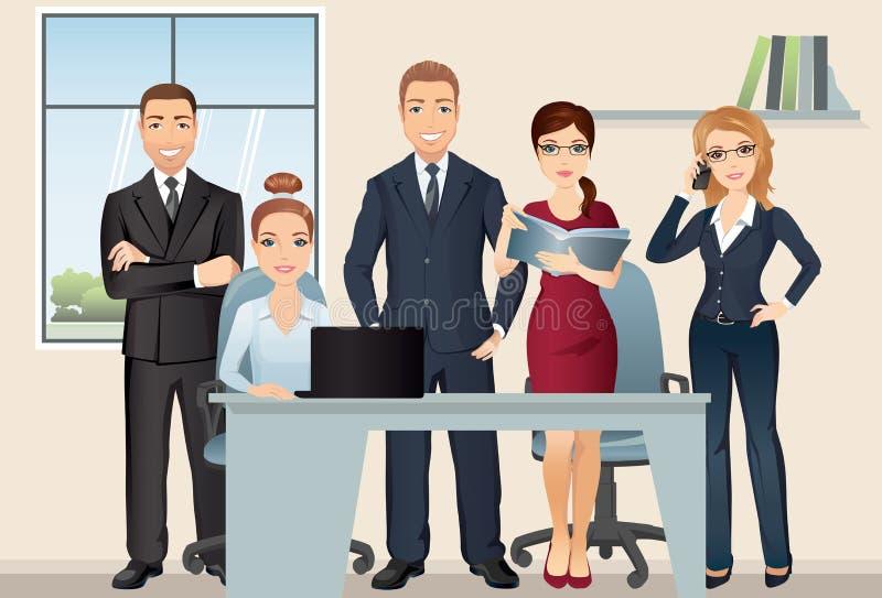 Executivos da reunião teamwork Equipe do escritório que discute e que conceitua na sala de reunião ilustração royalty free