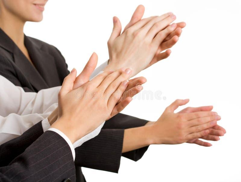 Executivos das mãos imagem de stock