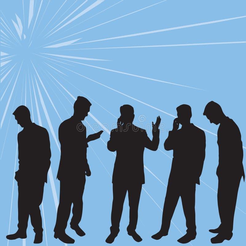Executivos das silhuetas ilustração do vetor