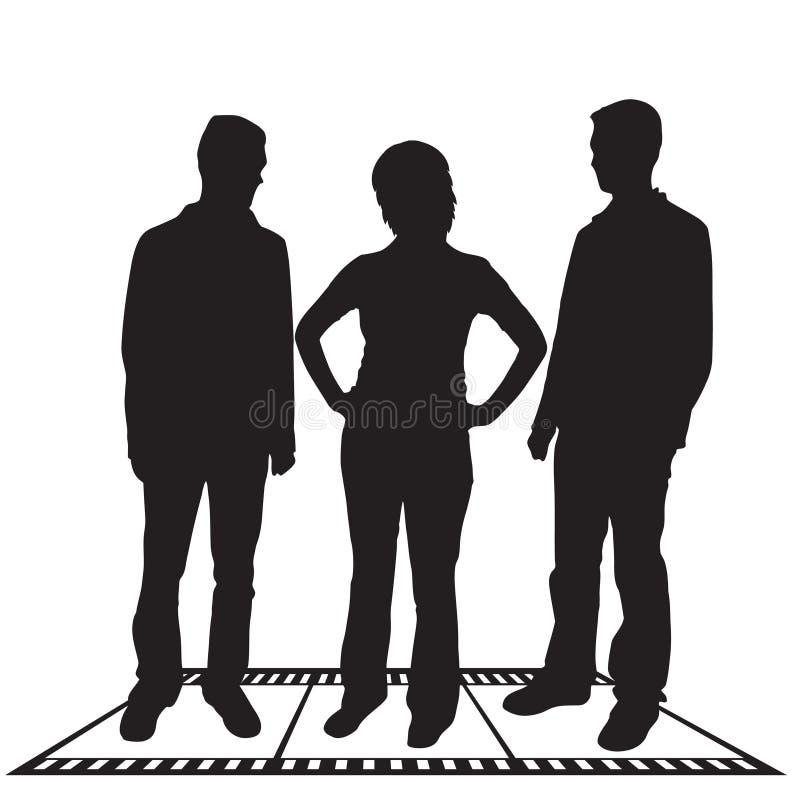 Executivos das silhuetas ilustração royalty free