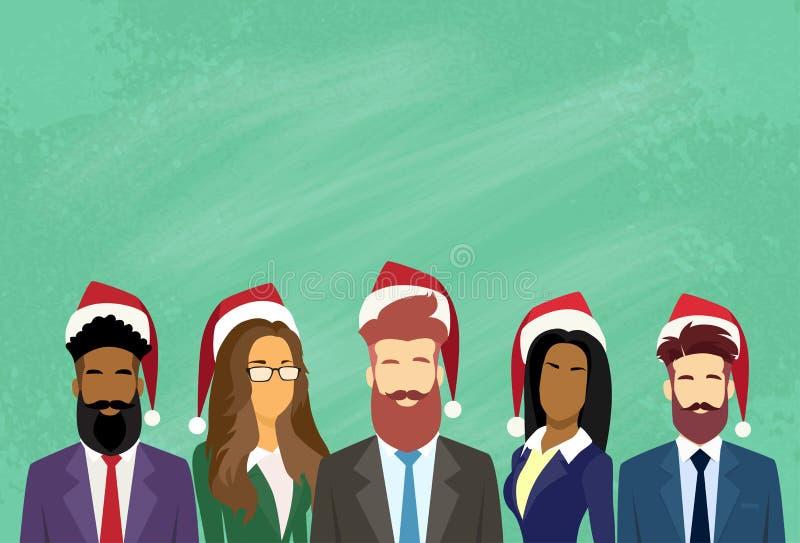 Executivos de ano novo do grupo dos homens de negócios ilustração do vetor