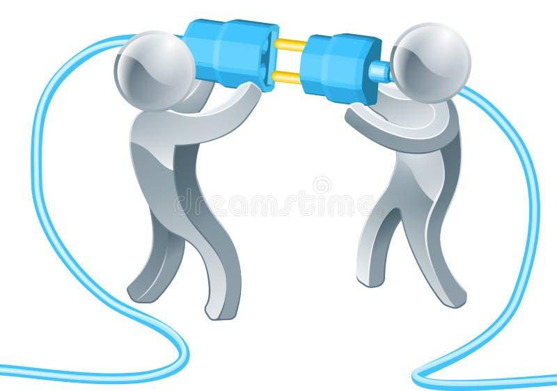 Executivos de conexão ilustração do vetor