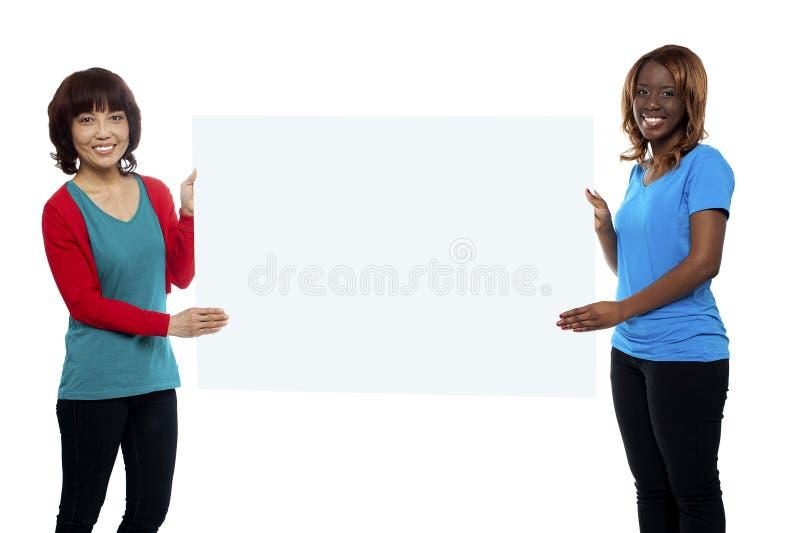 Download Executivos De Mercado Fêmeas Que Prendem O Quadro De Avisos Imagem de Stock - Imagem de fresco, africano: 26509673