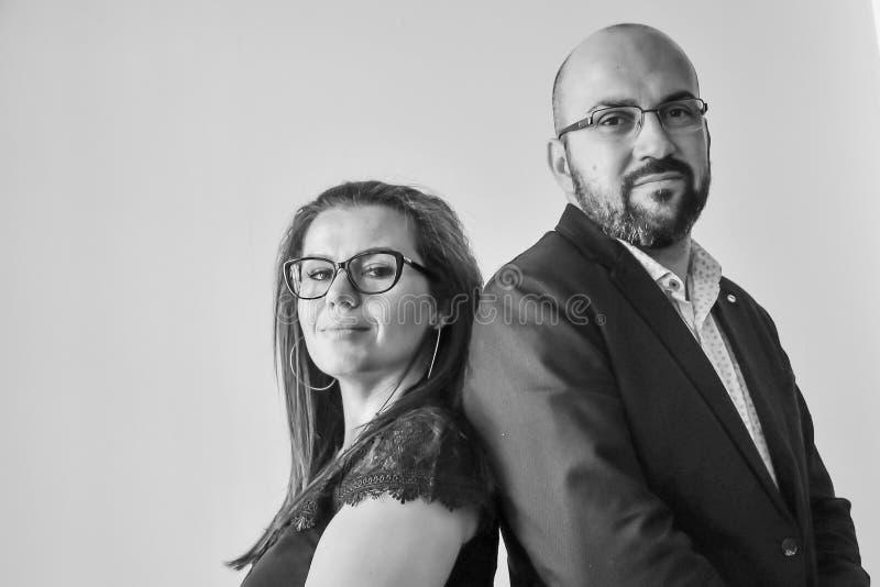 Executivos de n o escritório fotografia de stock royalty free