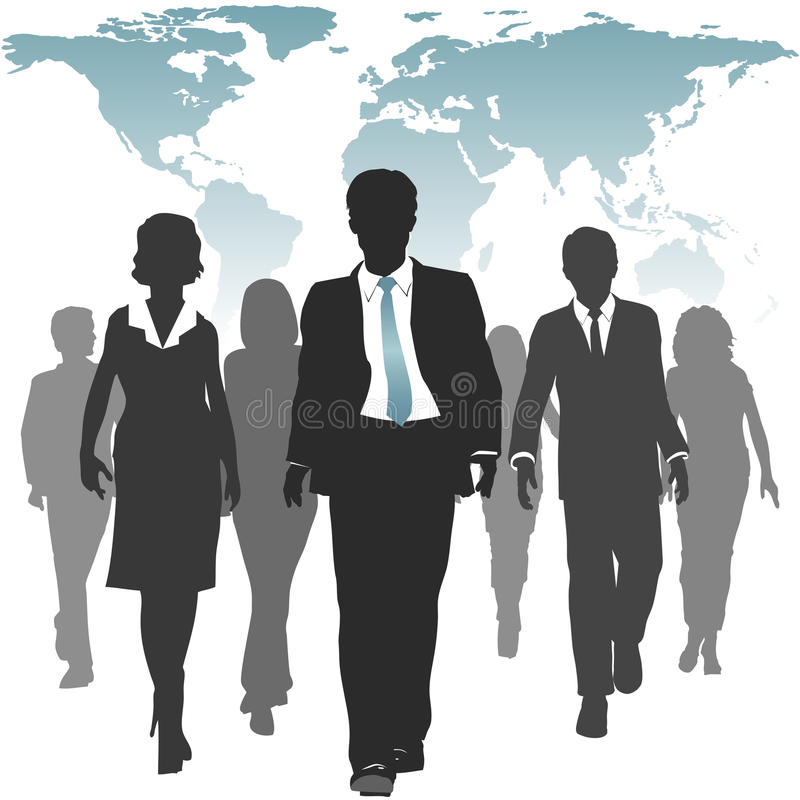 Executivos de recursos humanos de força de trabalho do mundo ilustração stock