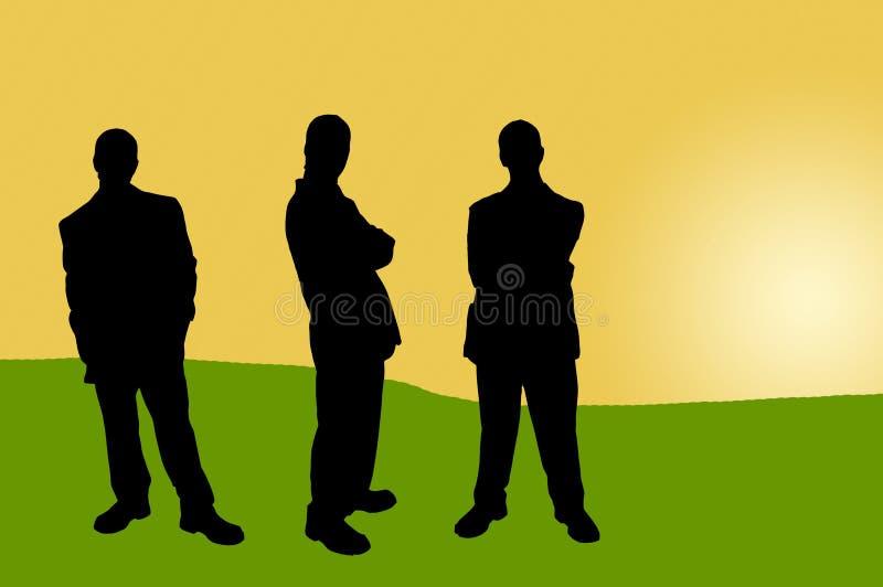 Executivos de shadows-16 ilustração do vetor