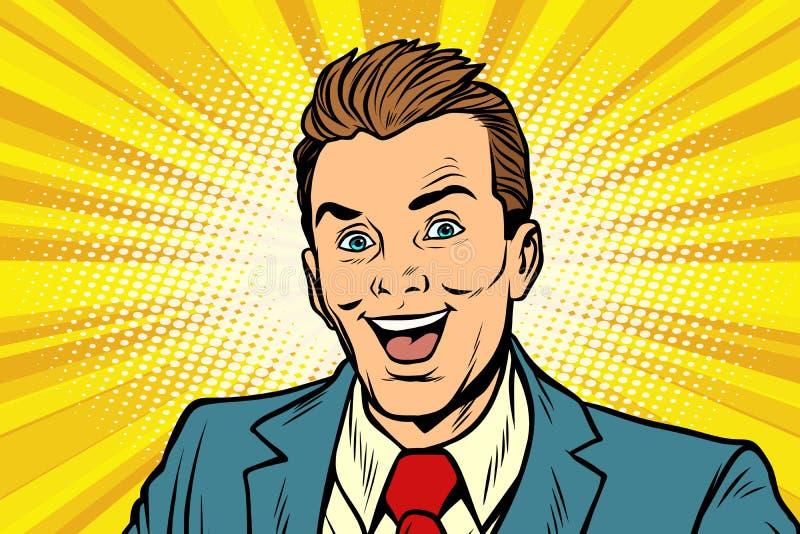 Executivos de sorriso do homem de negócios ilustração stock