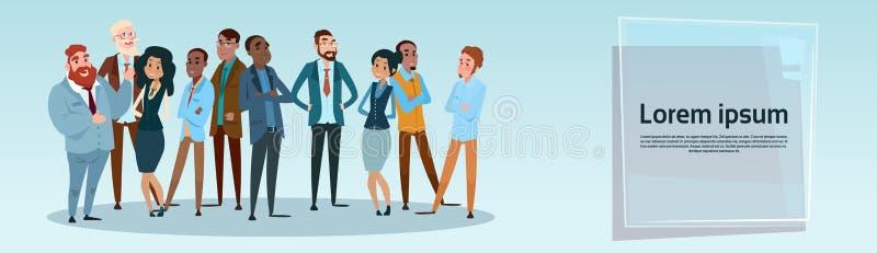 Executivos de Team Mix Race Businesspeople Group ilustração royalty free