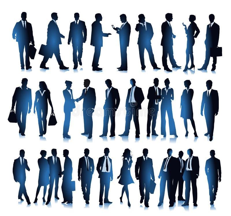 Executivos diversos ilustração do vetor