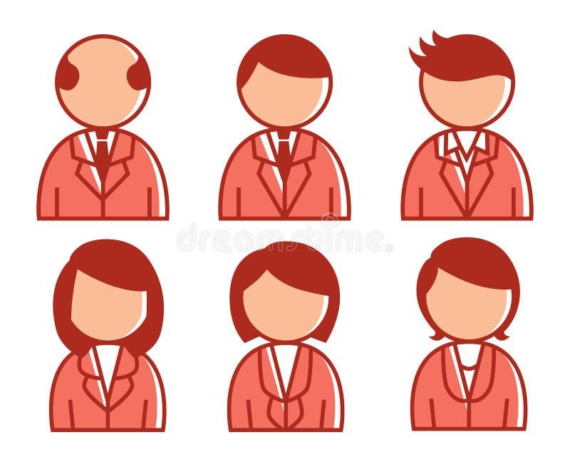 Download Executivos do ícone ilustração stock. Ilustração de macho - 29838580