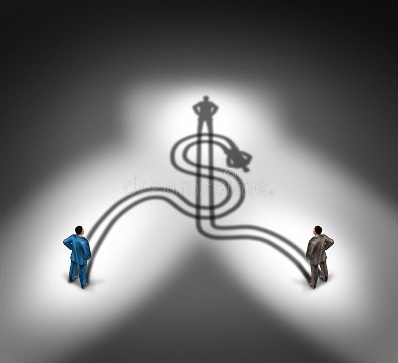 Executivos do acordo ilustração stock