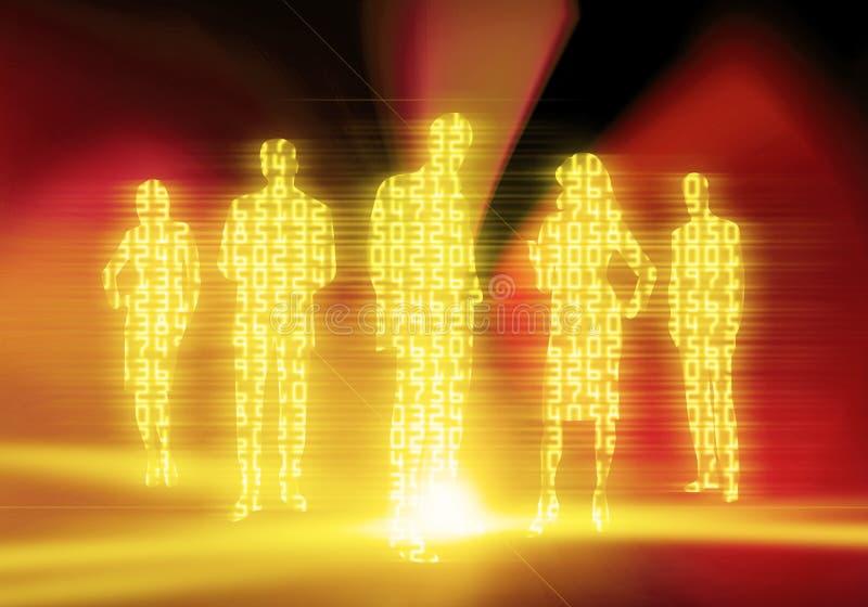 Executivos do código binário ilustração do vetor