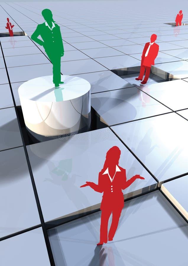 Executivos do conceito 3d nos blocos 3 ilustração royalty free