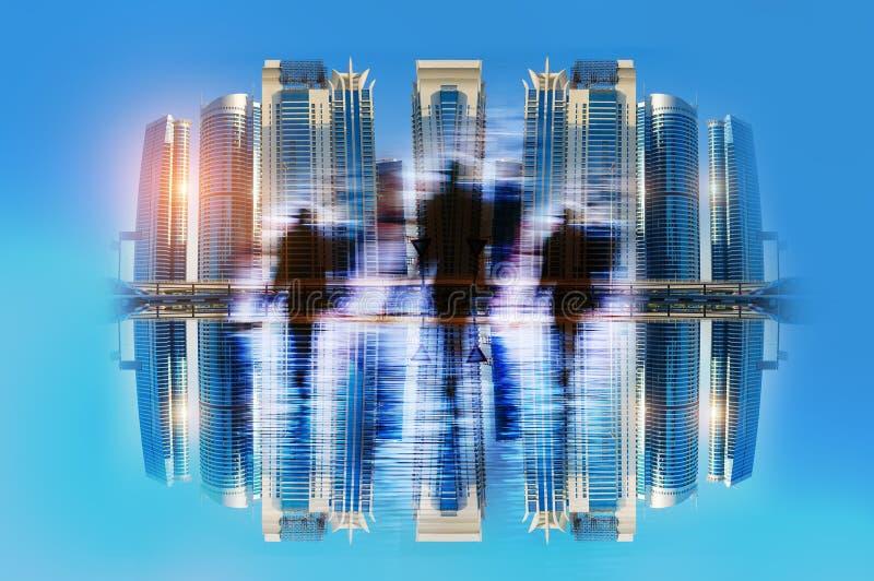 Executivos do conceito de comutação de passeio da cidade das horas de ponta foto de stock royalty free