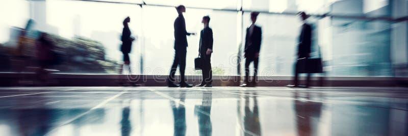 Executivos do conceito incorporado do trabalho do escritório de uma comunicação imagem de stock