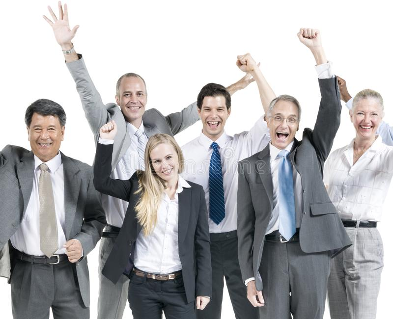 Executivos do conceito incorporado do sucesso da celebração fotografia de stock royalty free