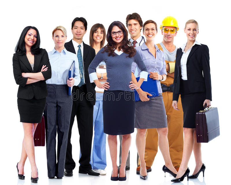 Executivos do grupo. foto de stock royalty free