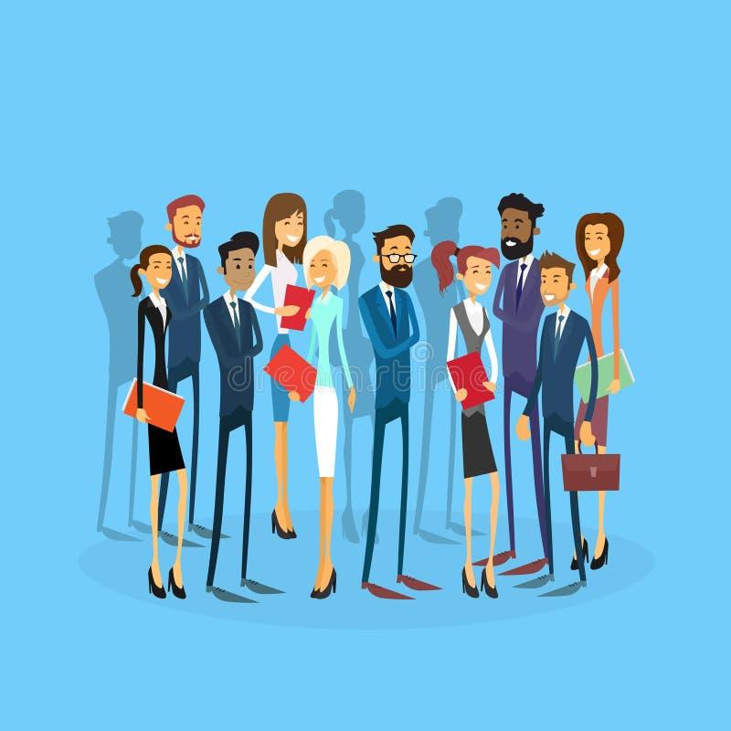 Executivos do grupo Team Businesspeople Flat ilustração do vetor