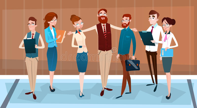 Executivos do grupo Team Businesspeople Teamwork dos desenhos animados ilustração do vetor