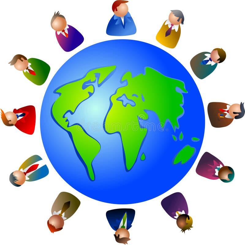 Executivos do mundo ilustração do vetor