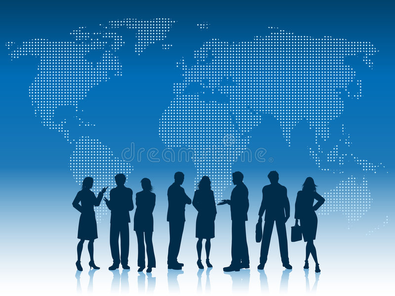 Executivos do mundo ilustração stock