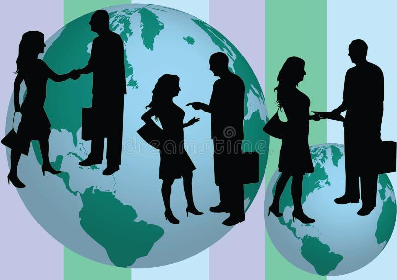 Executivos do silhouete ilustração royalty free